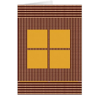 GOLDEN Squares - Windows of Opportunity Card