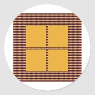 GOLDEN Squares - Windows of Opportunity Classic Round Sticker