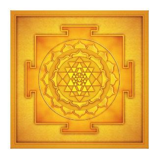Golden Sri Yantra - Artwork II Canvas Print