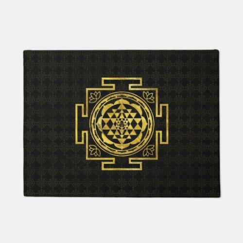 Golden Sri Yantra   Sri Chakra Doormat