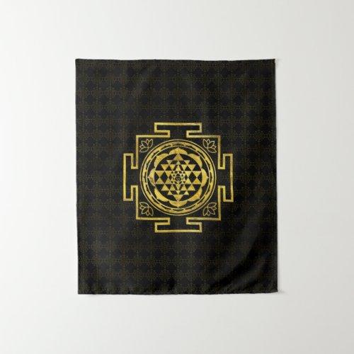 Golden Sri Yantra   Sri Chakra Tapestry