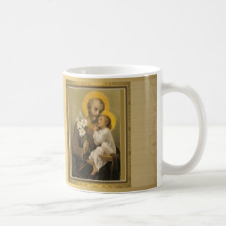 Golden St. Joseph Mug w prayer FEAST