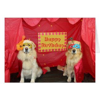 Golden Stage Birthday Greeting Card