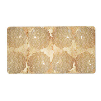 Golden StainedGlass  Waves: Sparkle Artistic Label