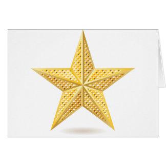 Golden star 2 card