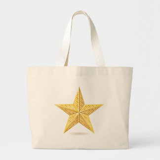 Golden star 2 large tote bag