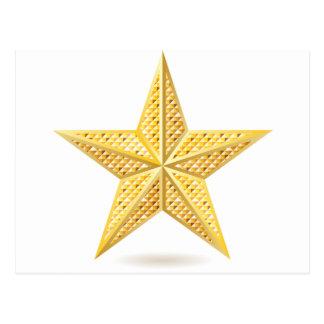 Golden star 2 postcard