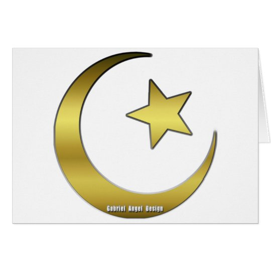 Golden Star and Crescent Card