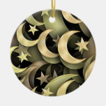 Golden Star and Crescent Christmas Ornament
