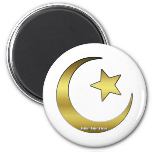 Golden Star and Crescent Magnet