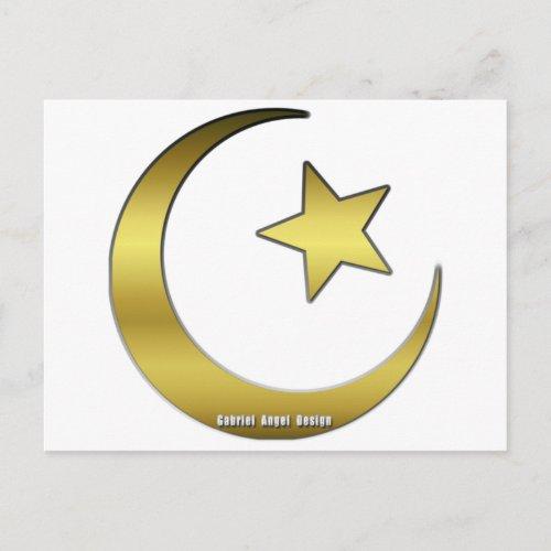 Golden Star and Crescent Postcard