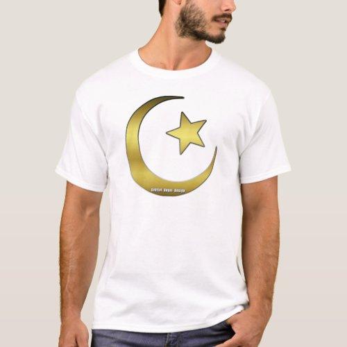 Golden Star and Crescent T_Shirt