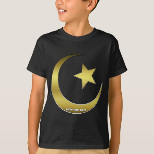 Golden Star and Crescent T_Shirt