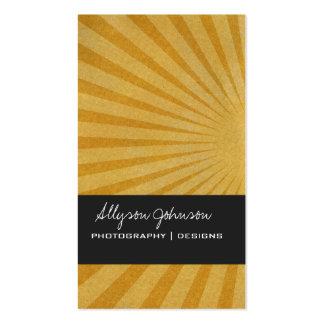 Golden Star Burst Background Business Cards
