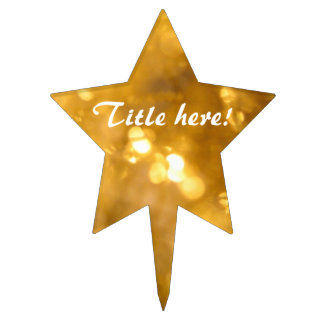 Golden Star - Cake Topper