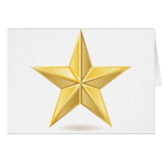 Golden star card