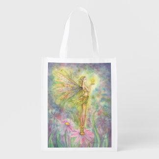 Golden Star Fairy Fantasy Art Shopping Bag
