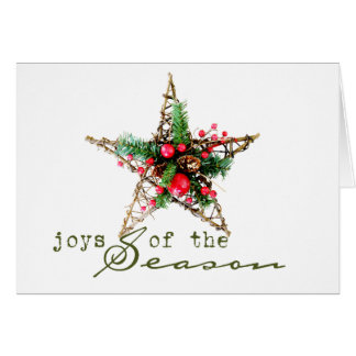 golden star holiday card