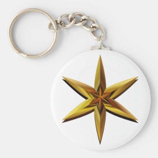 Golden Star Keychain