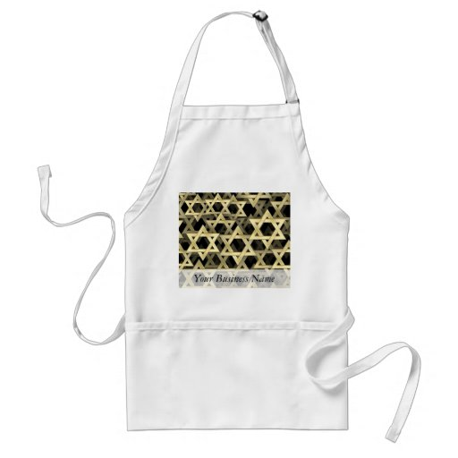 Golden Star Of David Adult Apron