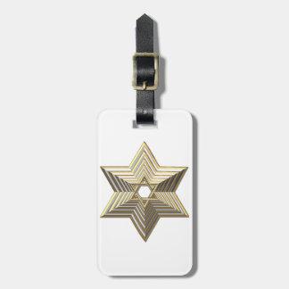 Golden Star of David Bag Tag