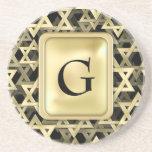Golden Star Of David Coaster