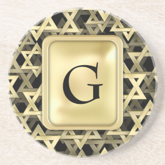 Golden Star Of David Coasters