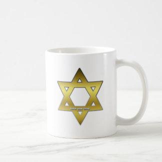 Golden Star of David Coffee Mug