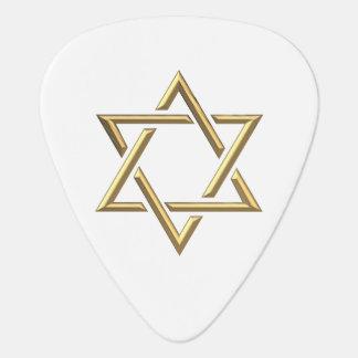 Golden Star of David Guitar Pick