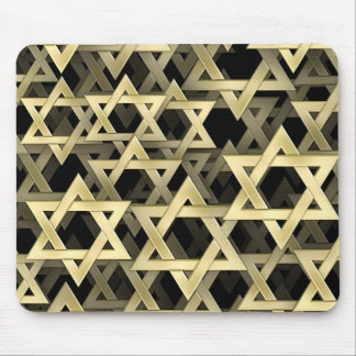 Golden Star Of David Mouse Pad
