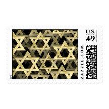 Golden Star Of David Stamps