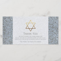 Golden Star of David Stone 4 Sympathy Thank You