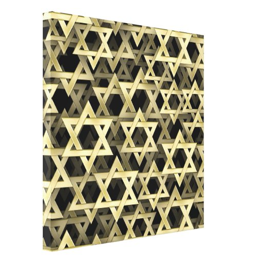 Golden Star Of David Stretched Canvas Prints