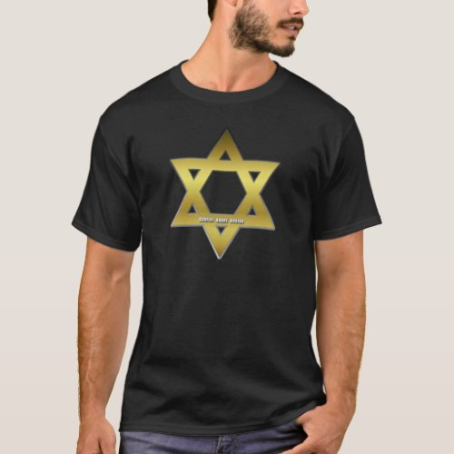 Golden Star of David T_Shirt