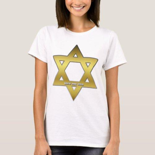 Golden Star of David T_Shirt
