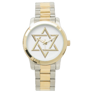 Golden Star of David Wristwatch