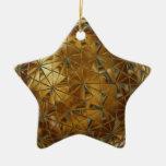 golden star ornament