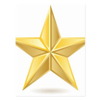 Golden star postcard
