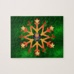 Golden Star Snowflake Puzzles