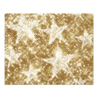 Golden Star Sparkles Christmas Holydays Flyer