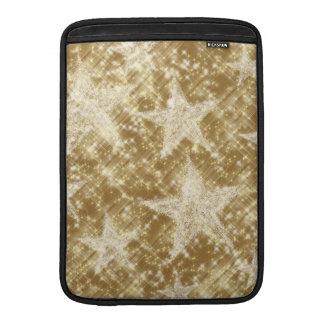 Golden Star Sparkles Christmas Holydays MacBook Air Sleeves