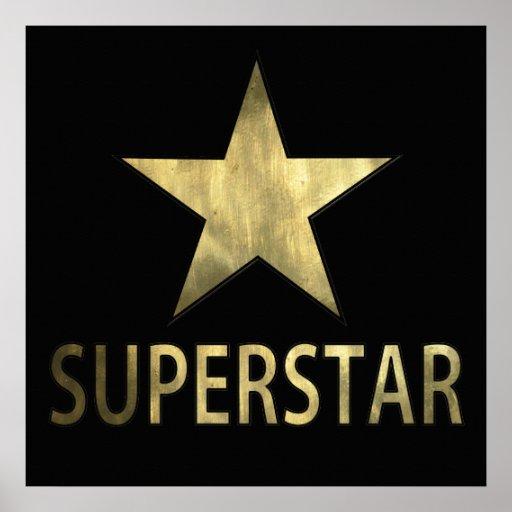 Golden Star Superstar Poster