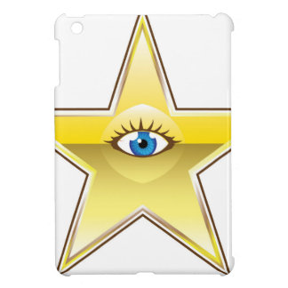 Golden Star with an Eye Vector Case For The iPad Mini