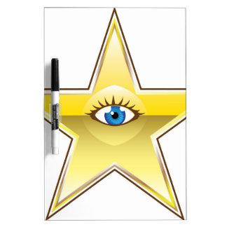 Golden Star with an Eye Vector Dry-Erase Board