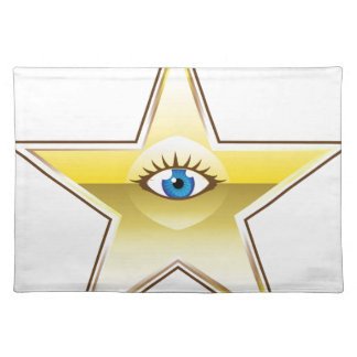 Golden Star with an Eye Vector Placemat