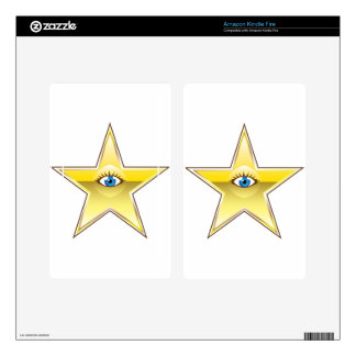 Golden Star with an Eye Vector Skins For Kindle Fire