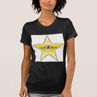 Golden Star with an Eye Vector Tee Shirt