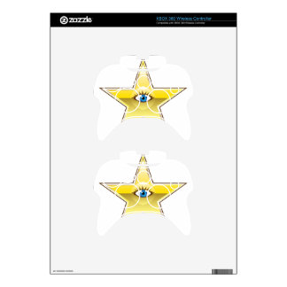 Golden Star with an Eye Vector Xbox 360 Controller Skin