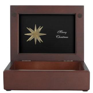 golden star wrapping keepsake boxes