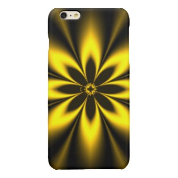 Golden Starburst Glossy iPhone 6 Plus Case